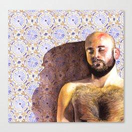 Carlos Fabric Canvas Print