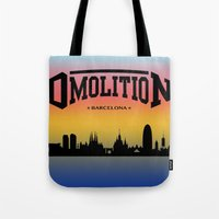 sports Tote Bags featuring DMolition Sports by DMolition