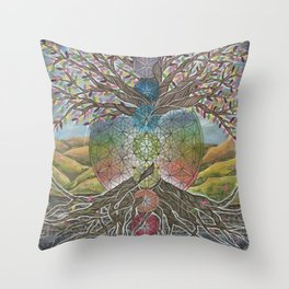 Tree of Life Painting Throw Pillow