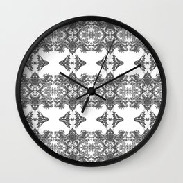 Ornament - Tree of Life - Rebirth - Mehndi Love - White #1 Wall Clock