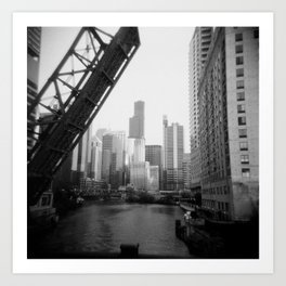Chicago River, Holga Art Print