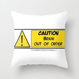 Brain out of Order Throw Pillow
