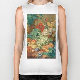 "Jan van Huysum ""Still Life with Flowers and Fruit"" Biker Tank"