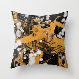 Data Network Throw Pillow