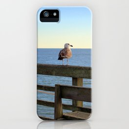 Perched On The Pier iPhone Case