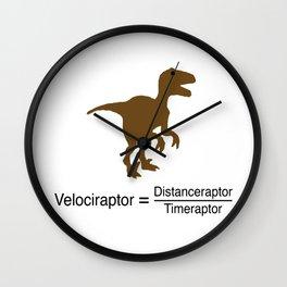 Velociraptor funny Wall Clock