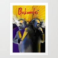 bukowski Art Prints featuring Bukowski by Zmudart