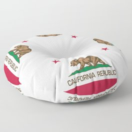 California flag, High Quality Authentic Floor Pillow
