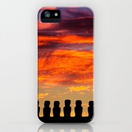 EASTER ISLAND SUNRISE iPhone Case
