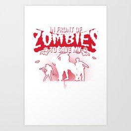 Save My Boston Terrier Halloween Funny Gift Shirt Art Print
