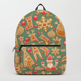 Gingerbread Christmas Pattern (Color) Backpack