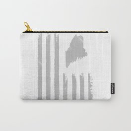 Distressed USA Flag with Maine Silhouette Original Design Carry-All Pouch