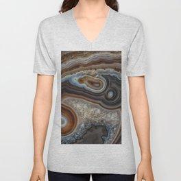 Mocha swirl Agate Unisex V-Neck