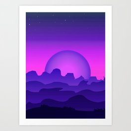 Night Landscape Art Print