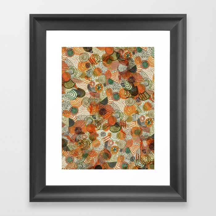 Tomatoes and pickles  Framed Art Print
