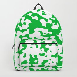 Spots - White and Dark Pastel Green Backpack