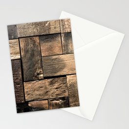 Rustic Wood Block // Tetris Jenga Vibe Real Hardwood Texture Accent Decoration Stationery Cards