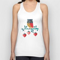 jazzberry Tank Tops featuring OWL ALWAYS LOVE YOU by Daisy Beatrice