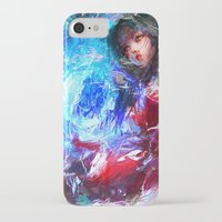league of legends iPhone & iPod Cases featuring League of Legends - Ahri by Raditya Giga