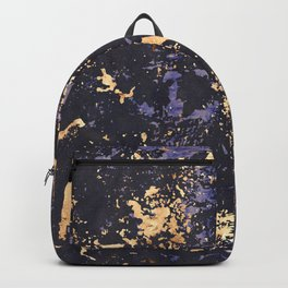Lilac Periwinkle Blue Modern Art With Gold Accents Backpack