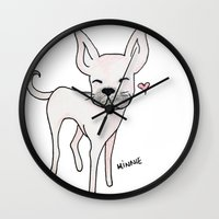 minnie Wall Clocks featuring Minnie by Daynasdoodleydoos