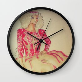 spring lady Wall Clock
