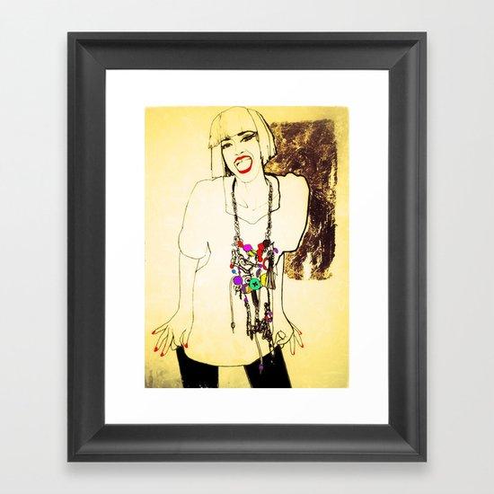 grit & glamour Framed Art Print