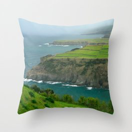 Coastal landscape Throw Pillow