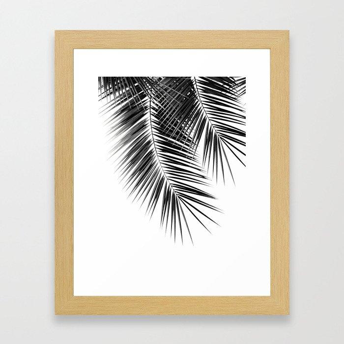 Black Palm Leaves Dream - Cali Summer Vibes #2 #tropical #decor #art #society6 Framed Art Print