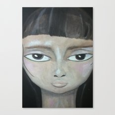 Little Brunette Canvas Print