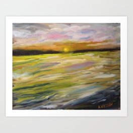 Sunset at Good Harbor Beach Art Print