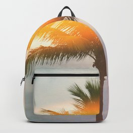 Palm Trees on the Beach Backpack