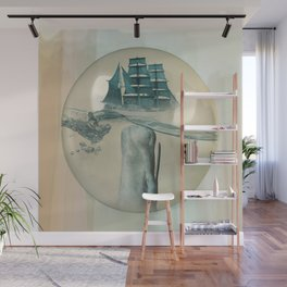 The Battle - Captain Ahab and Moby Dick Wall Mural