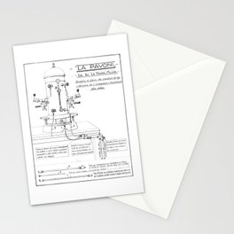 La Pavoni Patent Drawing Poster (Very Old & Rare) Stationery Cards