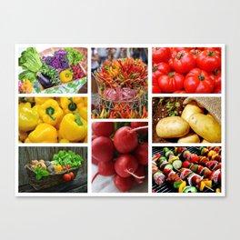 Garden Fresh Vegetables - Kitchen Decor Canvas Print