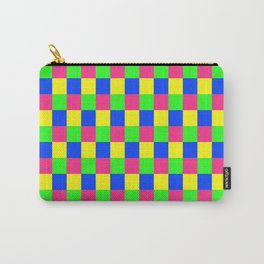 Vibrant Checked Carry-All Pouch