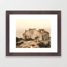 Old Ruins in Alcatraz Framed Art Print