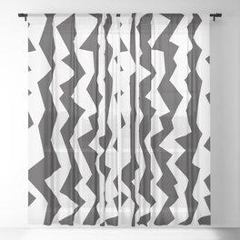 80s Zigzag Sheer Curtain
