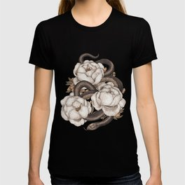 Snake and Peonies T-shirt