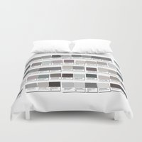 lawyer Duvet Covers featuring 50 Things That are Shades of Gray by Gigglebox