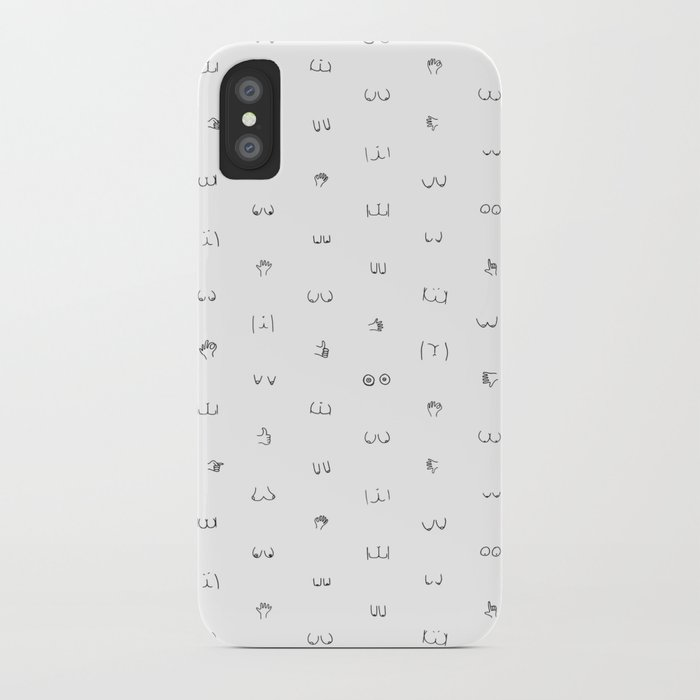 butts and boobies iphone case