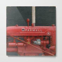 vintage IH farmall tractor series A Metal Print