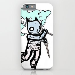 Skeleton Cat with Sword iPhone Case