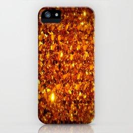 Copper Sparkle iPhone Case