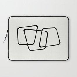 Simply Minimal - Black and white abstract Laptop Sleeve