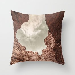 Curved Rocks Throw Pillow
