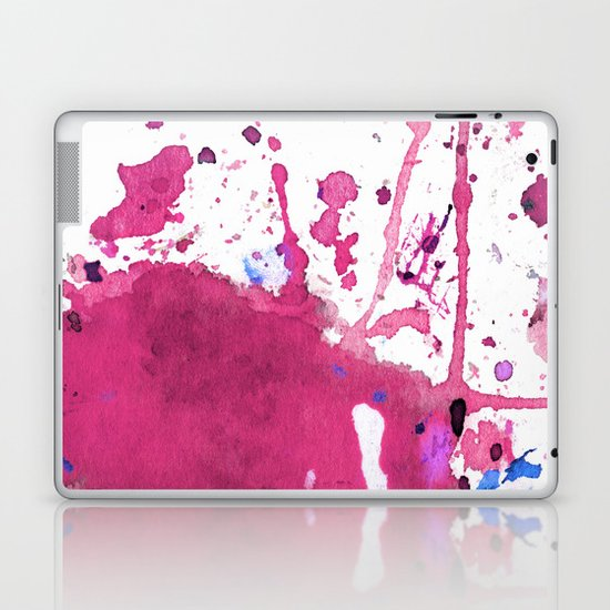pink splash Laptop & iPad Skin