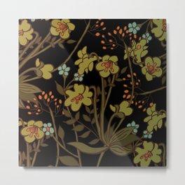 olive flowers Metal Print