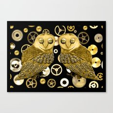 Cogs and Owls Canvas Print