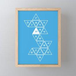 Blue Unrolled D20 Framed Mini Art Print